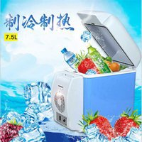Wholesale Portable Refrigerator Camping - 7.5L mini car refrigerator Outdoor Portable domestic small refrigerator Heat insulation box Camping Fishing Beverage fruit Cooling box