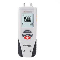 medidor de vacío al por mayor-Envío gratuito de mano de alto rendimiento manómetro de vacío de aire medidor de presión diferencial manómetro digital manometro presion