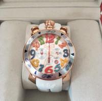 Wholesale Rose Ring Watch - luxury GAGA watch Gift gaga watch milano rose gold ceramic ring quartz watch