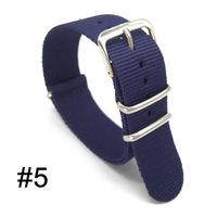 Wholesale 22mm Nato Band - Mans Women18 22 20 24 mm Strong Navy Military Army nato fabric Nylon Watches Woven Straps Bands Buckle belt 22mm New watchbands