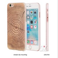 Wholesale Apple I Ring - U&I ON SALES Annual Ring Wood Wooden Hard Plastic PC Cover for IPhone 6 Plus Colorful Phone Cover Skin