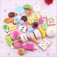 Wholesale Keychain Pendants - 2017 3D Kawaii Squishy Charm Rilakkuma Donut Cute Phone Straps Bag keychain Charms Slow Rising Squishies Jumbo Buns Pendant DHL free