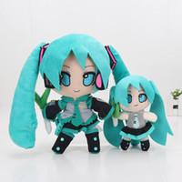 Wholesale dolls vocaloid miku - 16-24cm Anime Hatsune Miku Vocaloid Plush Toy Hatsune Miku Stuffed Plush keyring keychain Pendants Doll