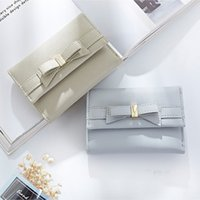 Hot Fashion Women Elegant Wallet Luxe Ladies Casual Zipper PU Leather Card Short Wallet Soft Étudiants Bow Embrayage Coin Purse Card Holder