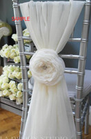 Wholesale Grey Chiffon Flowers - Link For Custom Made Chiffon 3D Flower Chair Sashes Romantic Vintage Beautiful Chair Covers Cheap Wedding Supplies