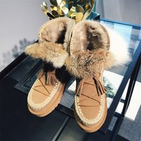 Snow Boots black ankle booties for women - 2017 Real Fur Winter Snow Boots For Women Hot Sale Suede Leather Ankle Booties European Lace Up Warm Shoes Ladies Western Short Shoes A783