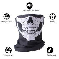 kafatası maskeleri toptan satış-10X Balaclava Kafatası Bandana Kask Boyun Yüz Maskeleri Bisiklet Motosiklet Kayak Açık Spor Için Cadılar Bayramı İskelet Eşarp Yeni Stil