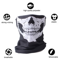 Wholesale face mask bandana neck - 10X Balaclava Skull Bandana Helmet Neck Face Masks For Bike Motorcycle Ski Outdoor Sports Halloween Skeleton Scarf New Style