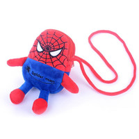 Nice- Cute Spider Man Shoulderbag Girls Plush 3 ???? Key / Card / Coin Purse / Cellphone Cross Messenger pour la mode cadeau