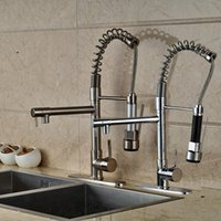 Wholesale and Retail Kitchen Faucet Chrome Finish Brushed Nickel Deck Mounted with Hole Cover Plate