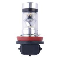 ledli araç ampulleri toptan satış-Süper Parlak 100 W 1000LM XBD H11 LED Sis DRL Gündüz Çalışan Işık Araç Başkanı Ampul Lamba DC 12 V