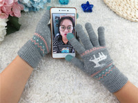Wholesale Conductive Pen Ipad - 2016 Winter Warm Touch Screen Glove Knit Cotton Capacitive Screens Conductive Gloves for iphone 7 6 6S plus ipad Christmas gift 01