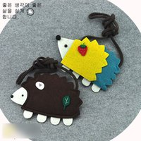 Wholesale Hedgehog Bags - Cartoon Baby Change Purse Fashion Boutique Accessories Hedgehog Christmas Children Messenger Bag Boys Girls Single-shoulder Bag C2695