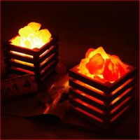 Wholesale Head Beds - HOT resin Himalayan crystal salt lamp table lamp light bedroom adornment night light lampsof the head of a bed
