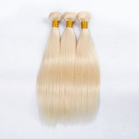 Wholesale 3 pc Brazilian Straight Human Hair Bundles Unprocessed Straight Human Hair Extension Brazilian Blonde Straight Human Hair Weave Bundles