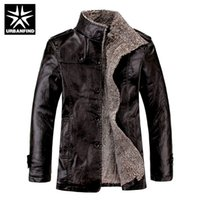 Wholesale Leather Jacket New Arrival - Wholesale- URBANFIND Stand Collar Men Wool Jackets Size M-4XL 2016 Winter New Arrival Man Warm Coats Black   Brown   Yellowish Male Coats