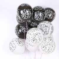 Wholesale Bubbles Birthday Party - Printing Balloons 100pc 12 Inch Thick 2.8 G Birthday Ballons Decorations Wedding Ballons Black White Globos Party Wholesale