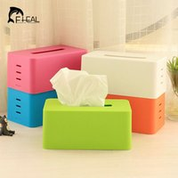 Wholesale Tissue Wholesalers - Wholesale- New Hot Candy Color Tissue Box Holder for House And Car Adjustable Lifting Stepped Multiple Colorways Indoor Livingroom Kitchen