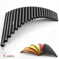 Wholesale Left Handed Musical Instruments - Wholesale- Hot selling UU PanFlute 22 Pipes ABS Panpipe G Key Right and left hand Handmade Folk Wind Musical Instruments flauta Xiao flute