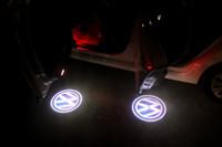 vw pasaport kapısı toptan satış-2 ADET / TAKıM Araba Kapı Nezaket Lazer Logo Projektör Işık Volkswagen VW Jetta MK5 MK6 MK7 Golf 5 6 7 Passat B6 B7 CC E0S