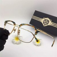 Wholesale Solid Gold Plated For Men - Best-selling luxury brand glasses frame D T Nomad half-frame 18k gold-plated ultra-light optical frame for men casual style top quality with