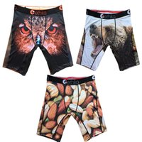 Wholesale S Owl - Hot Ethika Men's Staple underwear owl, Wolf, nuts sports hip hop rock excise underwear skateboard street fashion streched legging quick dry