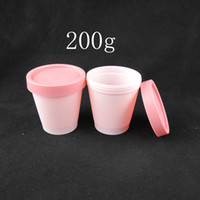 Wholesale China Empty Bottle - Wholesale- 200g X 20 cylinder mask PP empty cosmetic cream bottle, facial mask cream jars,skin care cream ,mask containers pink tins china