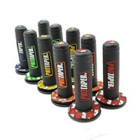 "Wholesale motorcycle braking - 1 Pair Motorcycle Pro taper Dirt Pit Bike Motocross 7 8"" Handlebar Rubber Gel Hand Grips Brake Hands 22mm 24mm"