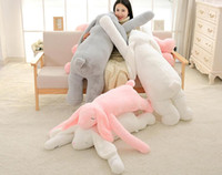 Lovely Large 120cm Soft Cartoon Big Ear Bunny Peluche Jouet 47 '' Giant Animal Rabbit Stuffed Pillow Girl Doll