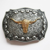Wholesale Rodeo Cowboy - JEAN'S FRIEND New Original Western Cowboy Rodeo Bull Double Color Heavy Metal Belt Buckle Gurtelschnalle BUCKLE-WT130 Brand New