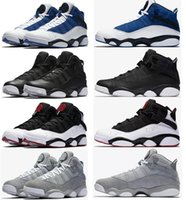 Wholesale Rings Lace - 2017 air retro six 6 rings men basketball shoes French Blue Bulls Cool Grey Black Silver Alternate Oreo Chameleon retro 6s sports shoes