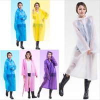 Moda 0.13mm EVA Transparente Raincoat Poncho Portátil Impermeável Light Raincoat Long Use Rain Coat Hogard c216