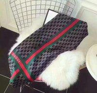 Wholesale Lace Neck Scarves - 10 styler 100% Silk size 180*70 marc vuitton burch scarf Women's Emporio spade Scarves tory jacobs Shawl Wraps louis#78 kate GG Scarf