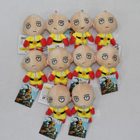 Wholesale ONE PUNCH MAN Plush Toys Saitama Sensei Soft Stuffed Doll mm One punch Man Saitama Cartoon Stuffed Toys set Best Gift