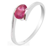 ingrosso anello rubino naturale argento-Anello d'argento alla moda del gemma del rubino genuino naturale di 100% 925 Anello d'argento rubino solido dell'argento sterlina migliore regalo per la ragazza
