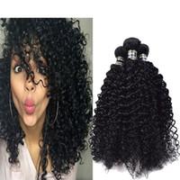 Wholesale Curly Virgin Hair Jet Black - Factory Wholesale Price Brazilian Curly Hair Bundles 3pcs lot Brazilian Virgin Hair Kinky Curly Human Hair Extensions Jet Black 1#