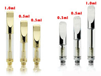 Wholesale Dual Atomizers - Pyrex glass cartridge Golden cartridge CE3 atomizer vaporizer pen cartridges dual coil 92a3 for thick fit touch battery