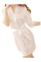 Wholesale Sexy Sleep Dress Women Lingerie - Wholesale- Women Lady Sexy Lingerie Sleep Dress Robe Sleepwear Nightwear Night Dress