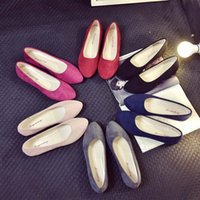 Wholesale Cheap Flocking - 2017 Ballet Flats Shoes Woman Fashion Slip-On Round Toe Cheap Women Jelly Casual Shoes Flock Breathable Increase Size