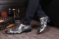 Wholesale Korean Elevator Shoes - Korean Type Fashion shoes Man casual Leather dress shoes increased Height elevator Man's Dress Shoes Leather