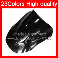 Wholesale Zx12r Windscreen - 23Colors Motorcycle Windscreen For KAWASAKI NINJA ZX12R 00 01 CC ZX 12 R 00-01 ZX 12R ZX-12R 2000 2001 Chrome Black Clear Smoke Windshield