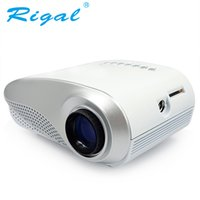 Wholesale best dlp projectors resale online - Rigal Projector RD802 Classics LED MINI Projector Lumens Beamer for Video Home Cinema Best Gift Input HDMI USB VGA AV ATV