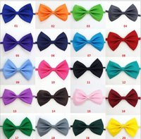 Wholesale Silk Dog Clothes - Polyester Silk Pet Dog clothing Necktie Adjustable lovely Bow Ties Necktie puppy pet bows neck tie pet collars neckties