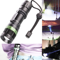 Wholesale High Powered Torches - High Power CREE Q5 LED Flashlight 3000Lumen Torches Zoomable Flashlight Adjustable Torches Zoom Light need 3xAAA or 1x 18650