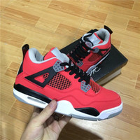 Wholesale Superman Low - 2017 High Quality 4s Basketball Shoes Men shoes 4s White Cement Black bull Red 4 Superman Fashion Sports Shoes With Box