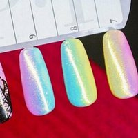 Venta al por mayor-Nueva Moda Nail Glitter Art Tips Gradiente color Mermaid Effect Glitter polvo decoración para las mujeres