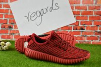 Wholesale Cheap Hot Shoes Online - 2017 Cheap Online Wholesale hot free New Boost 350 boost Kanye West Low Shoes Fashion Shoes Man Woman Shoes US5-US11.5 with box