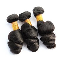 Wholesale wavy hair machine resale online - 1kg Loose Wave Virgin Hair10 Bundles Brazilian Peruvian Malaysian Raw Virgin Indian Human Hair Weave Bundles Loose Wavy inch