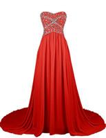 Wholesale Cheap Formals China - Long Formal Dress 2017 Free Shipping Feestjurken Lang Cheap Red Chiffon Evening Dresses Made in China