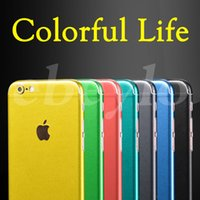 Wholesale Ice Packaging - Full Body Sticker Film Apple Brush Ice Stickers Front Back Cover Protective For Iphone 7 6 6S Plus Skin Colorful With Retail Package